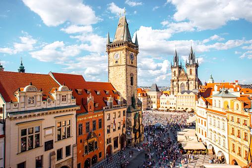 Prague cityscape view