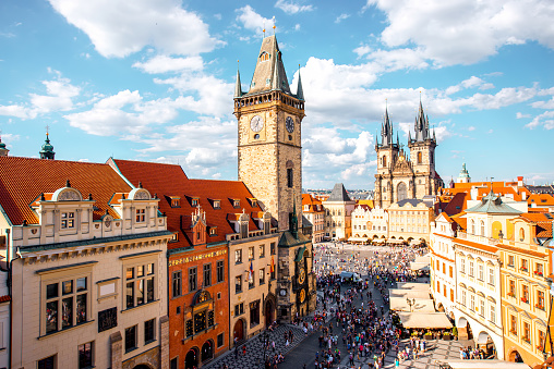 Prague Cityscape View Stock Photo - Download Image Now