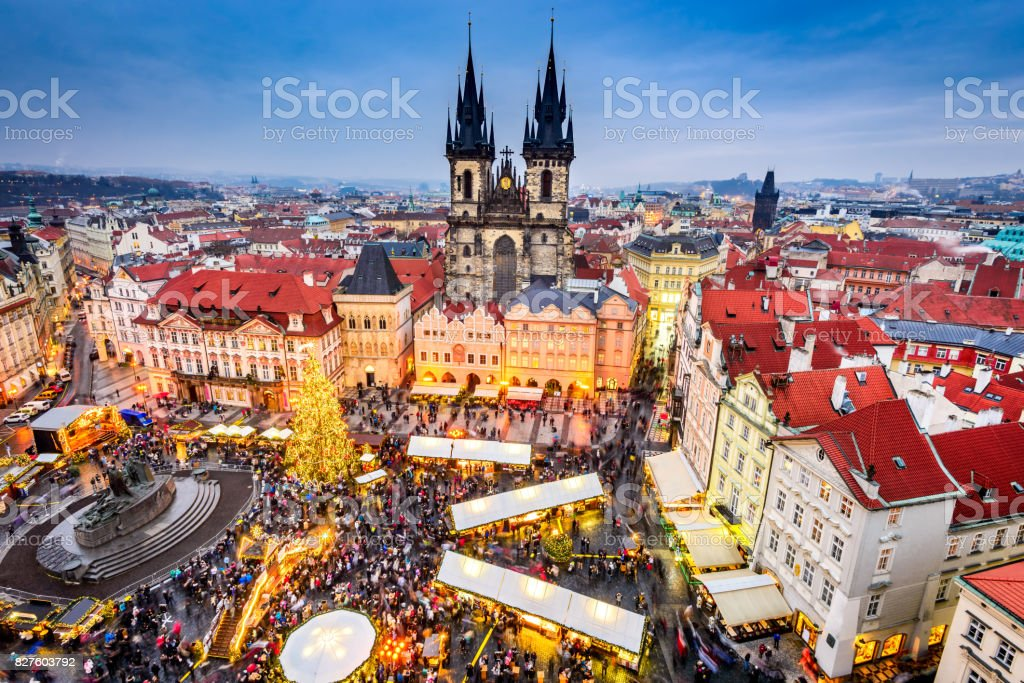 Prague, Czech Republic - Christmas Market royalty-free stock photo