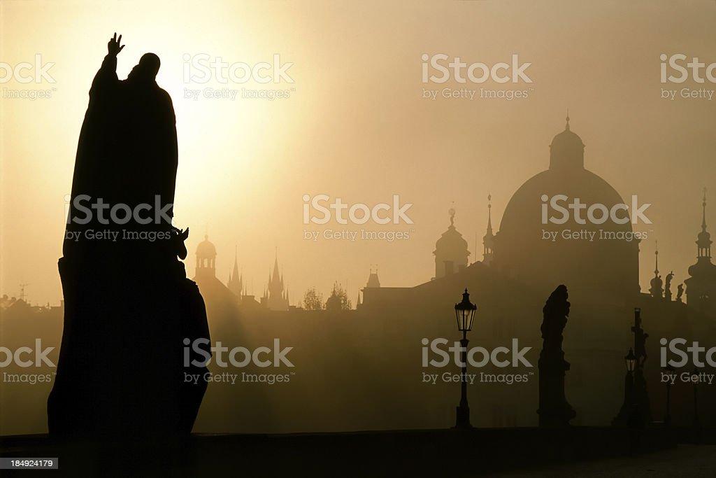Prague Dawn royalty-free stock photo