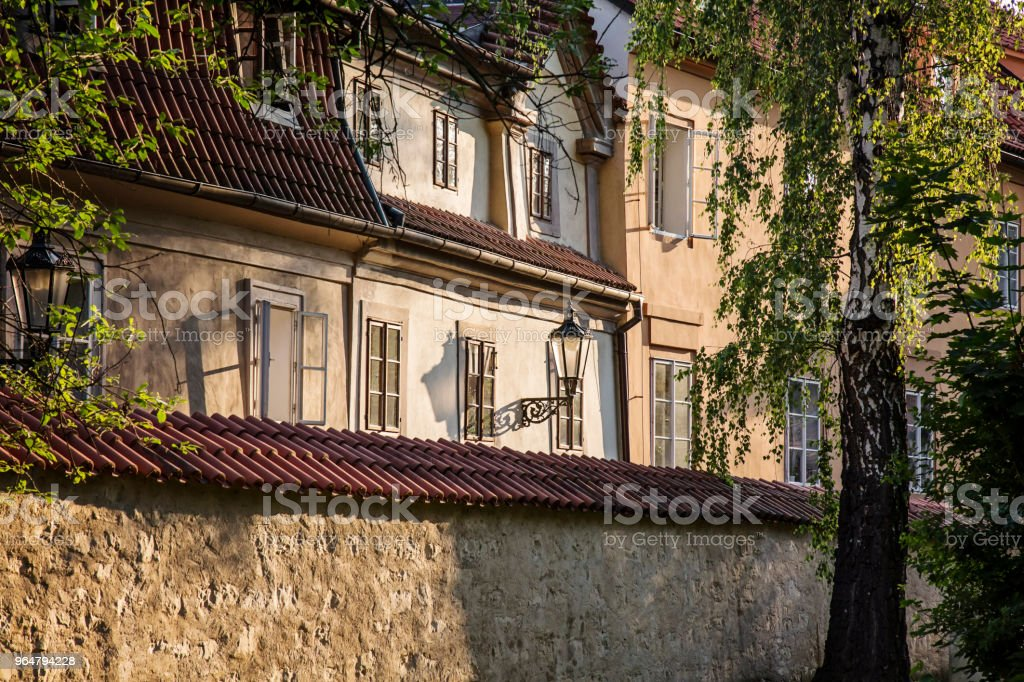 Prague historical center detail at Mala Strana royalty-free stock photo