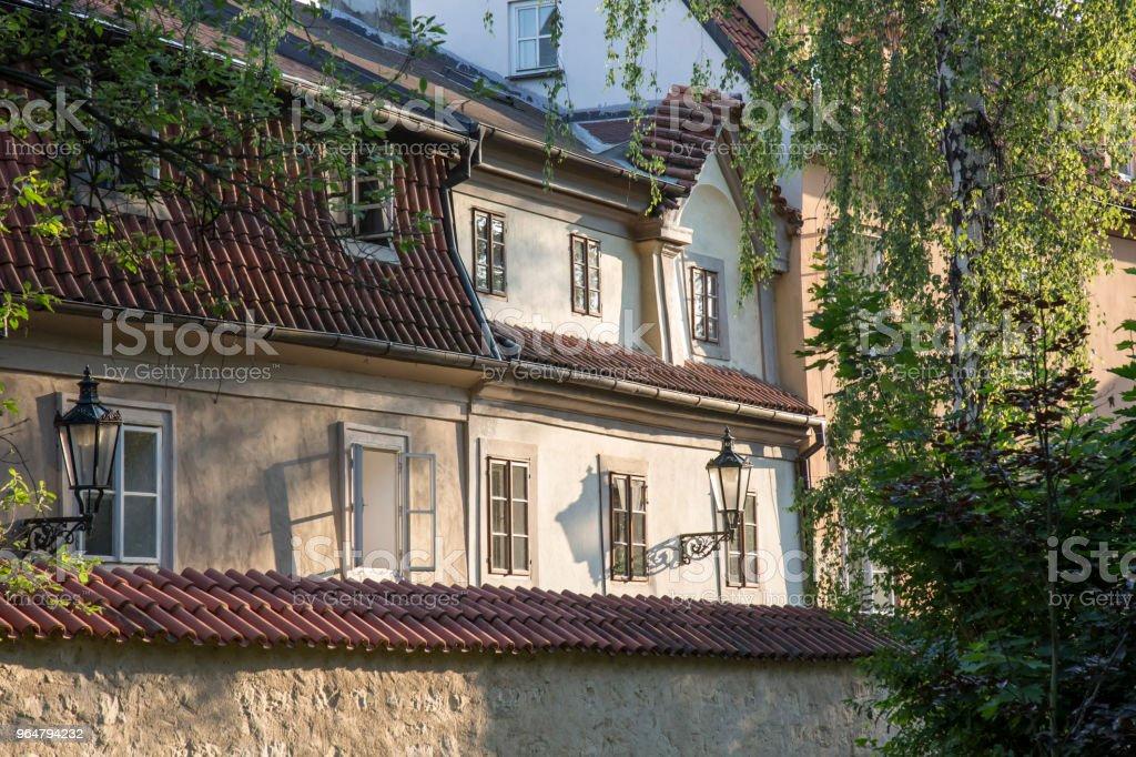 Prague historical center detail at Mala Strana royalty-free stock photo