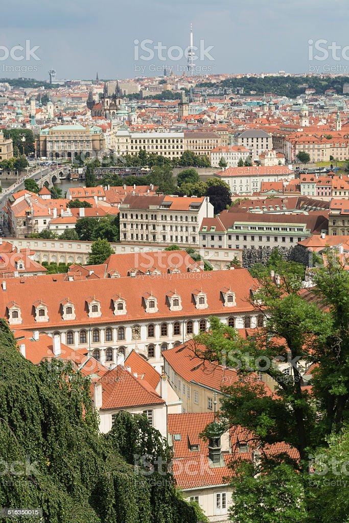 Centro histórico de Praga - foto de acervo