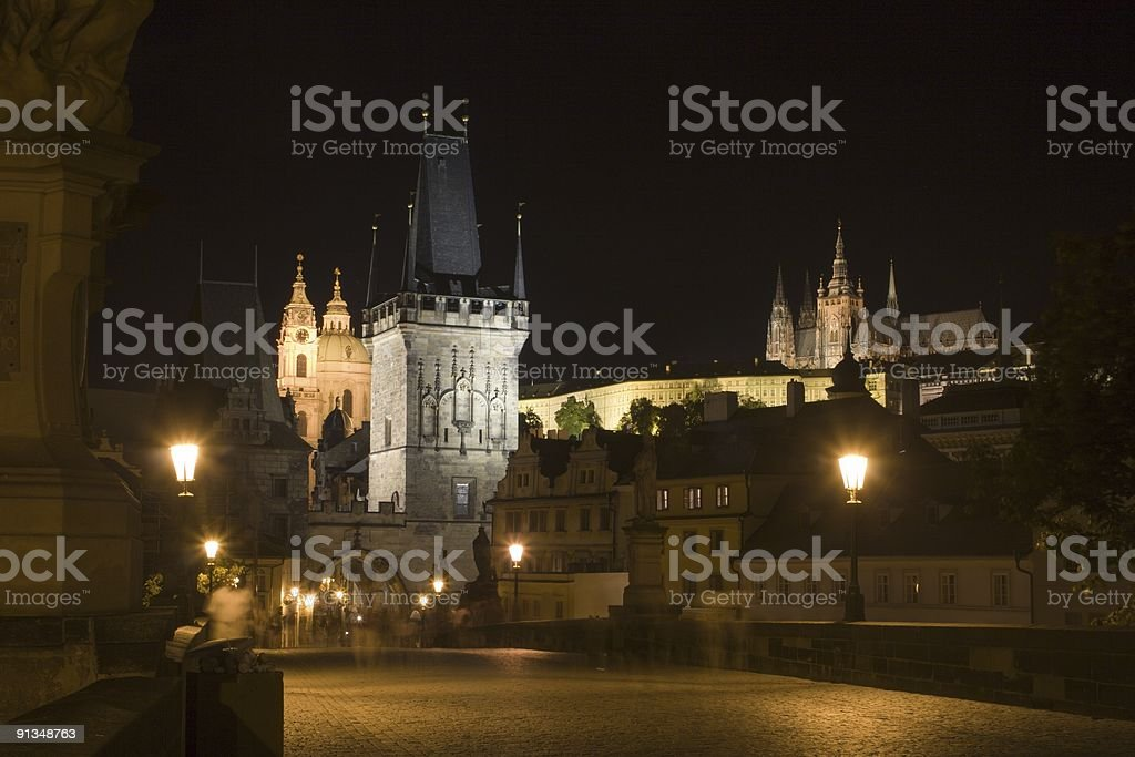 prague in night royalty-free stock photo