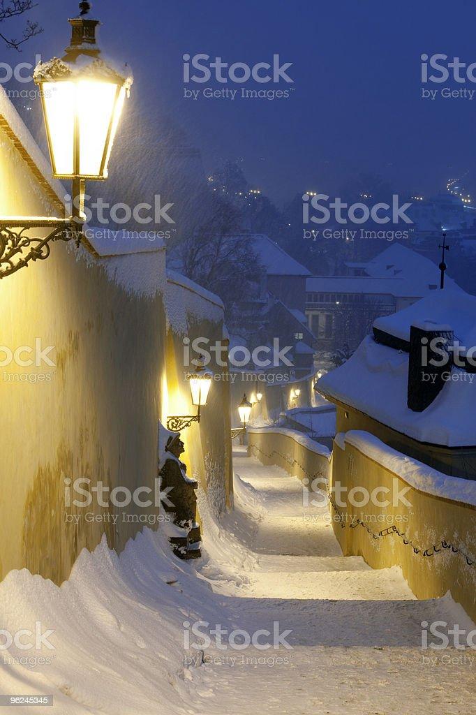 prague in winter royalty-free stock photo
