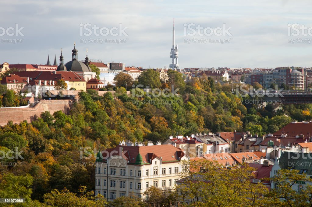 Prague. Сity from the height of Vysehrad. stock photo