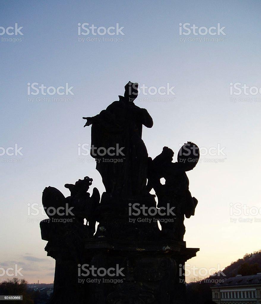 Prague - Karls Most royalty-free stock photo