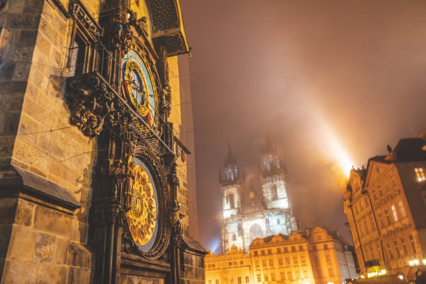Prague Old Town, astronomical clock Prague Old Town, astronomical clock astronomical clock prague stock pictures, royalty-free photos & images