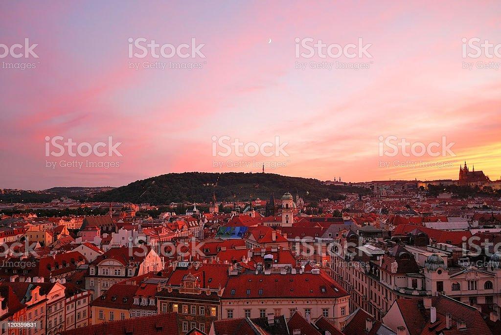 Prague. Old Town  at sunset royalty-free stock photo
