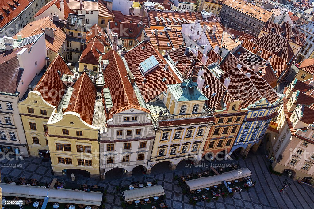 Prague, Old Town Square. stock photo