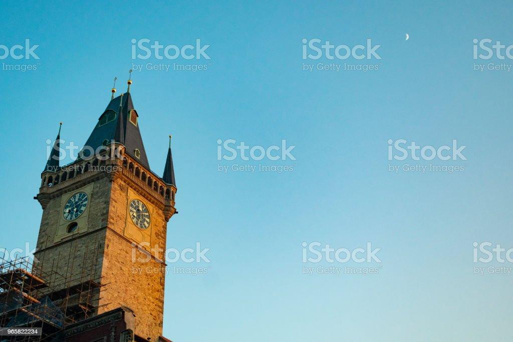 Praag, oude stadsplein - Royalty-free Architectuur Stockfoto