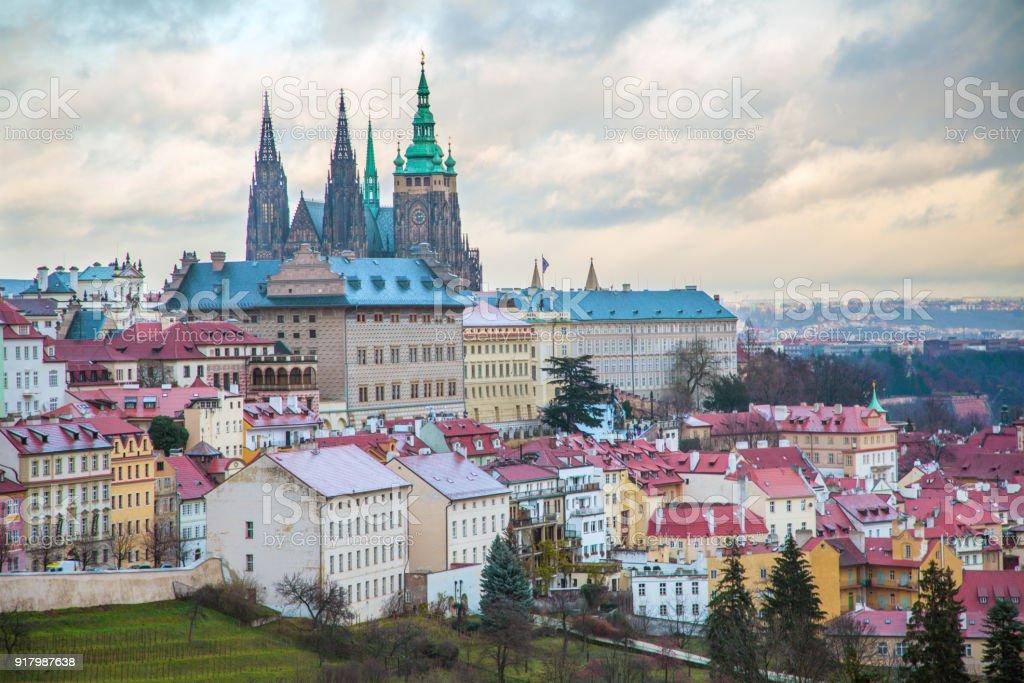 Panorama von Prag mit Prager Burg – Foto