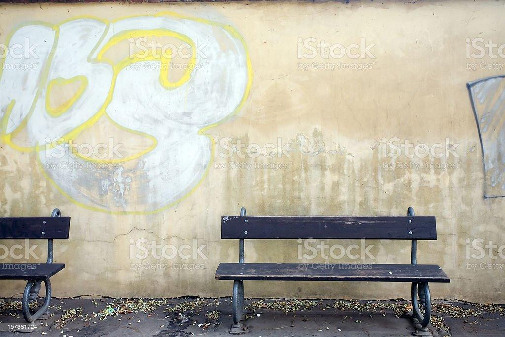 prague park bench royalty-free stock photo