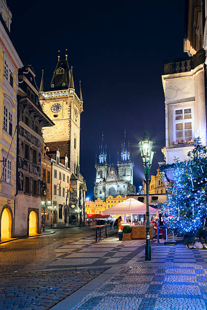Prague. Image of Prague, capital city of Czech republic, during Christmas time. astronomical clock prague stock pictures, royalty-free photos & images