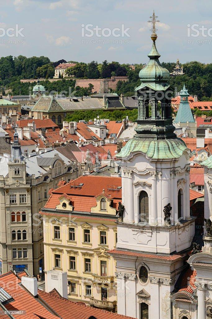 Telhados de Praga foto royalty-free