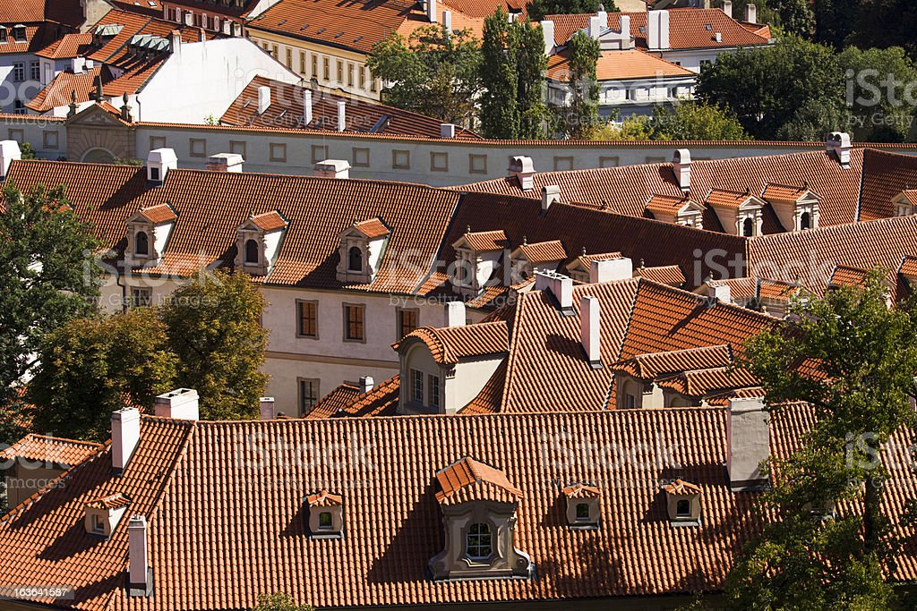 Prague rooftops in the Czech Republic royalty-free stock photo