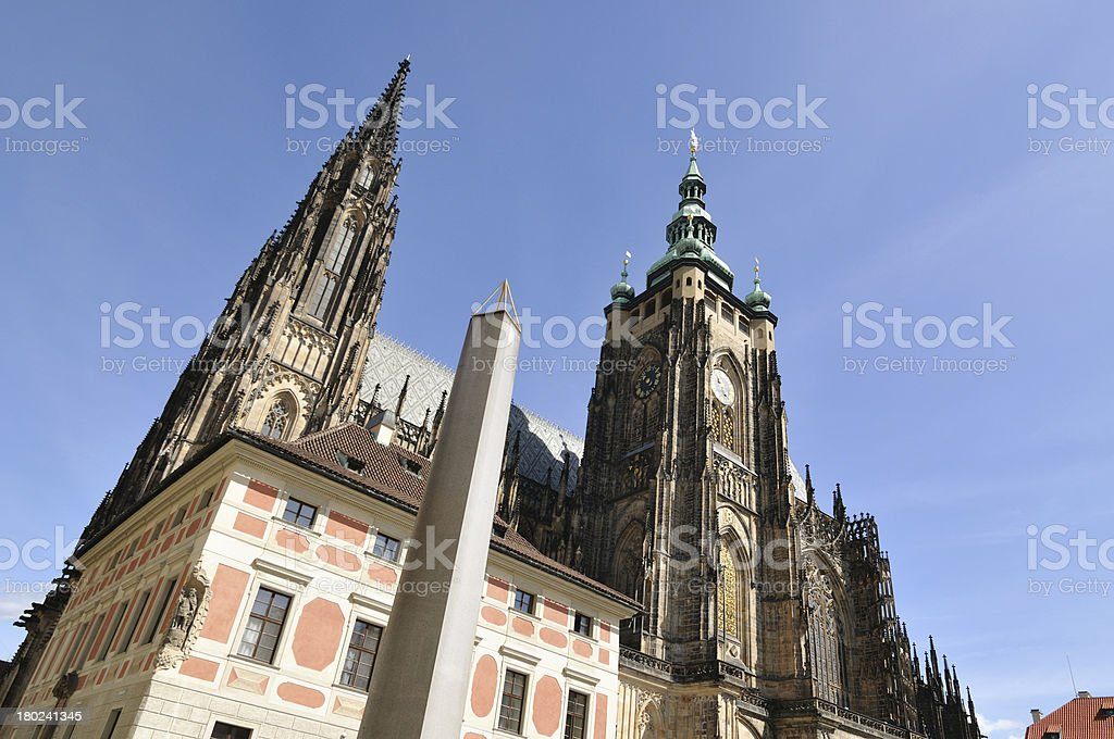 Prague St. Vitus Cathedral in Hradcany royalty-free stock photo
