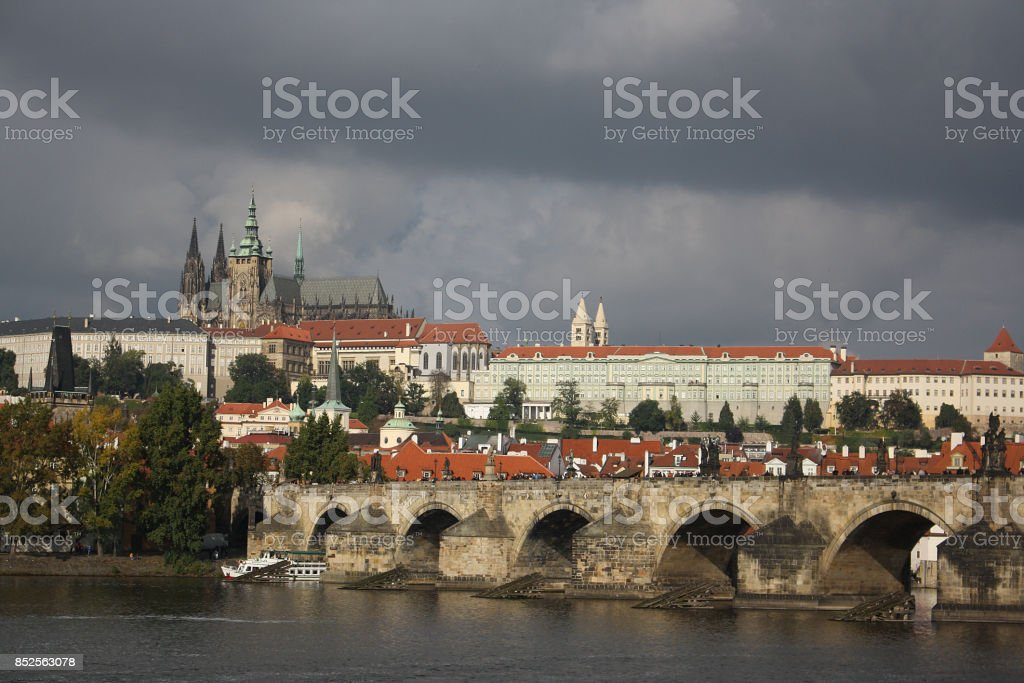 Prague Street stock photo