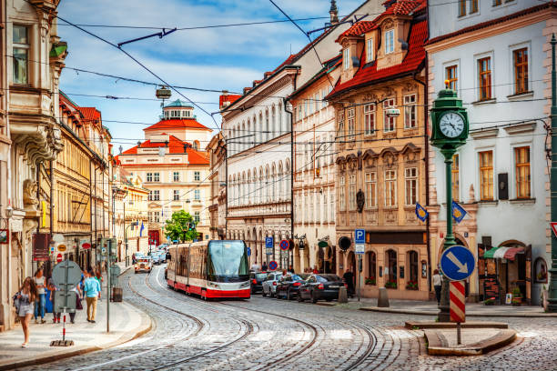 Prague street Prague street prague stock pictures, royalty-free photos & images