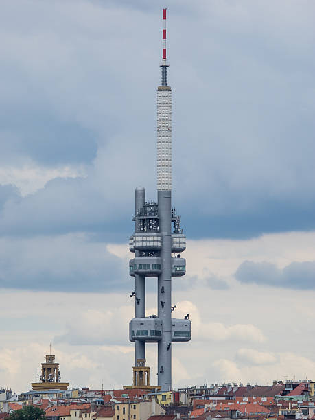 Prague television tower stock photo