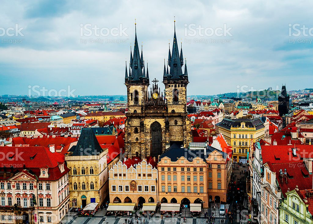 Prague view from above. The view from the tower. photo libre de droits