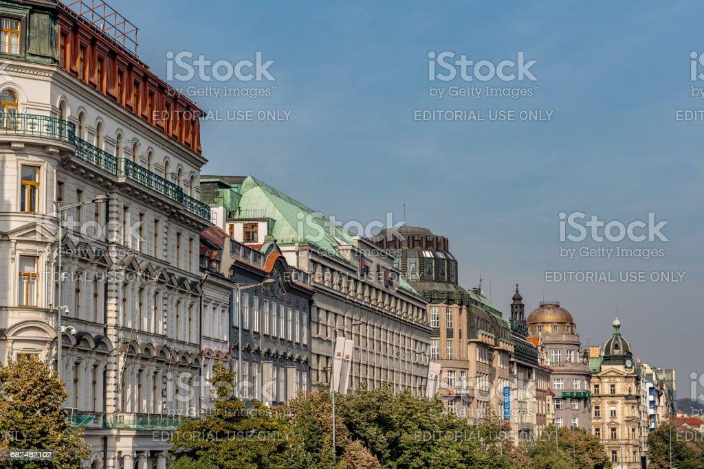 Prague, Wenceslas Square royalty-free stock photo