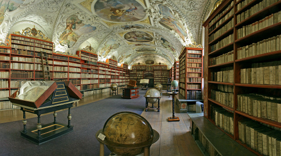 Prague - matematical hall of the Strahov convent library