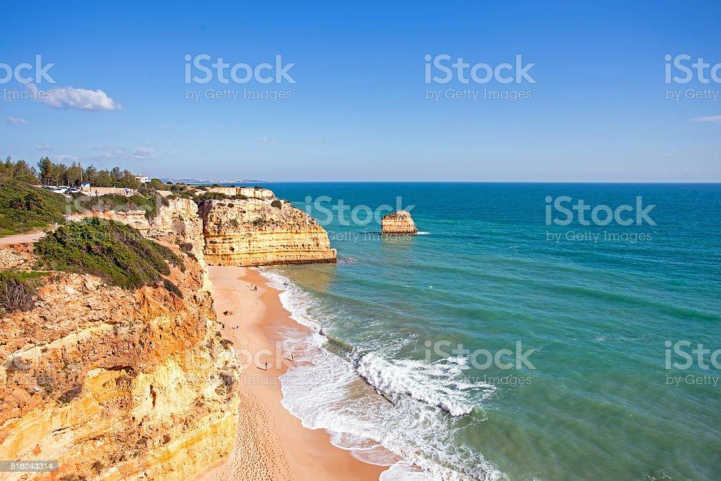 Praia da Marinha in the Algarve Portugal stock photo