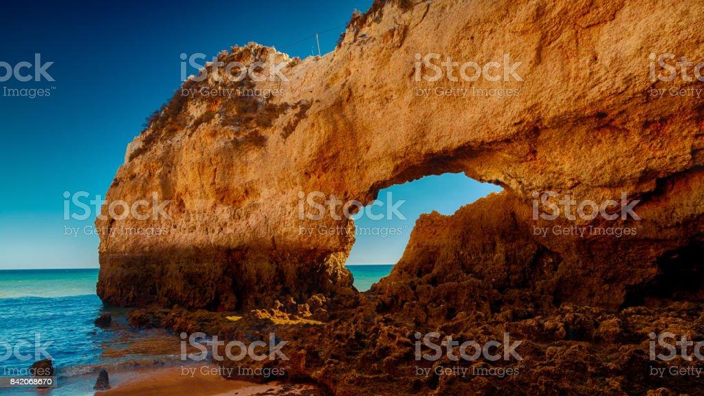 Praia da Rocha, The Algarve, Portugal - fotografia de stock