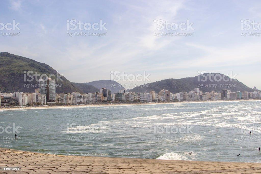 Praia de Copacabana stock photo