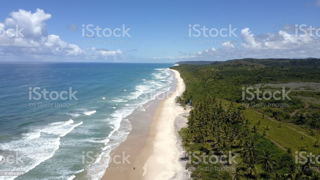 Praia de Itacaré, Bahia - Brasil stock photo