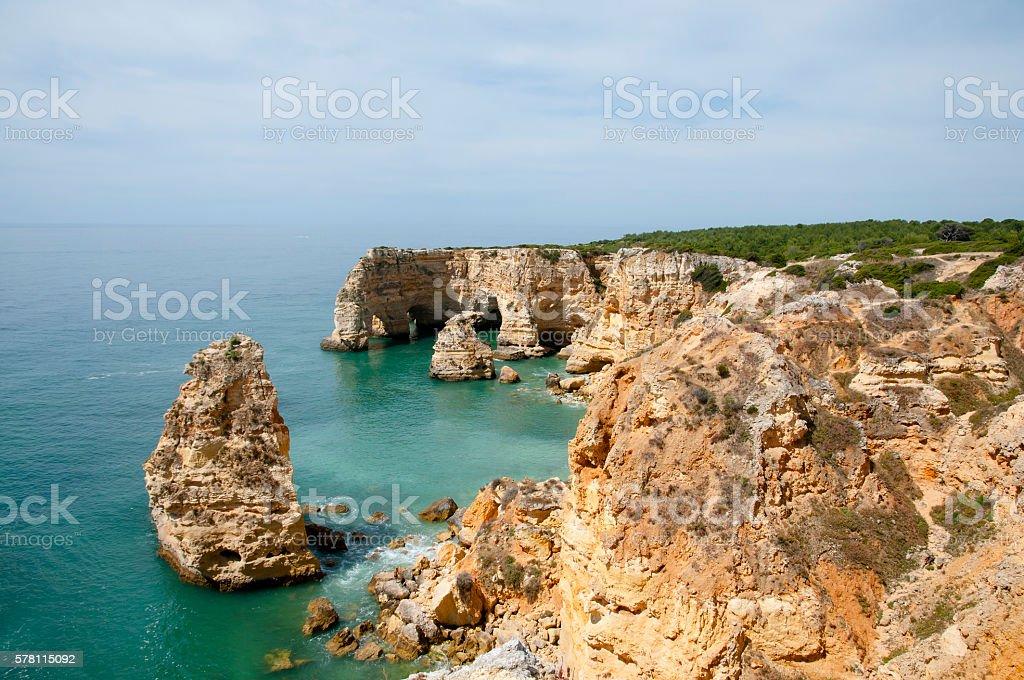 Praia de Marinha - Algarve Coast - Portugal stock photo