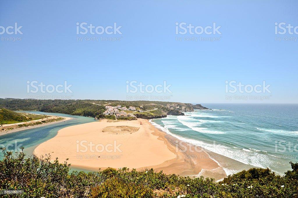 Praia de Odeceixe, Surfer beach, West coast der Algarve, Portugal – Foto
