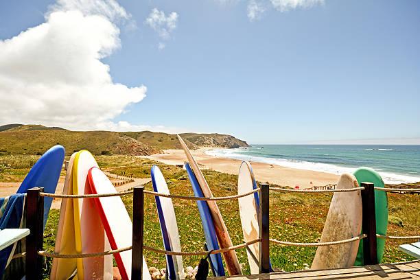 Praia do Amado, Praia e surfe local, Algarve, Portugal - foto de acervo
