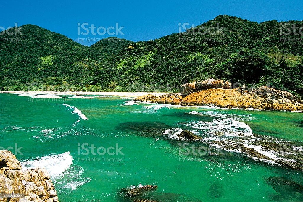 Praia do Cachadaço stock photo