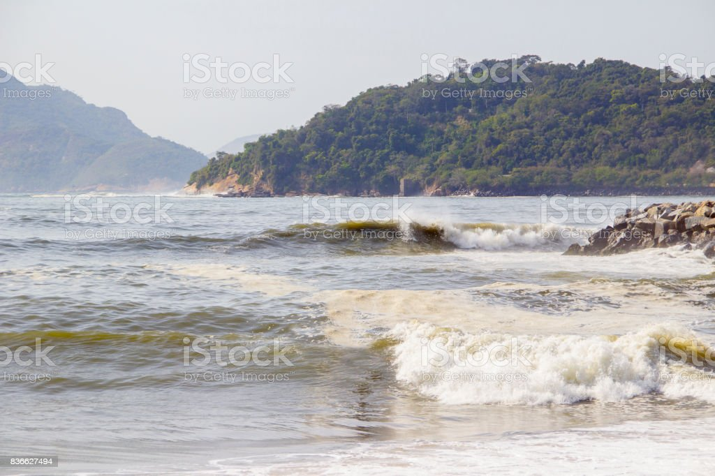 Praia do Flamengo stock photo