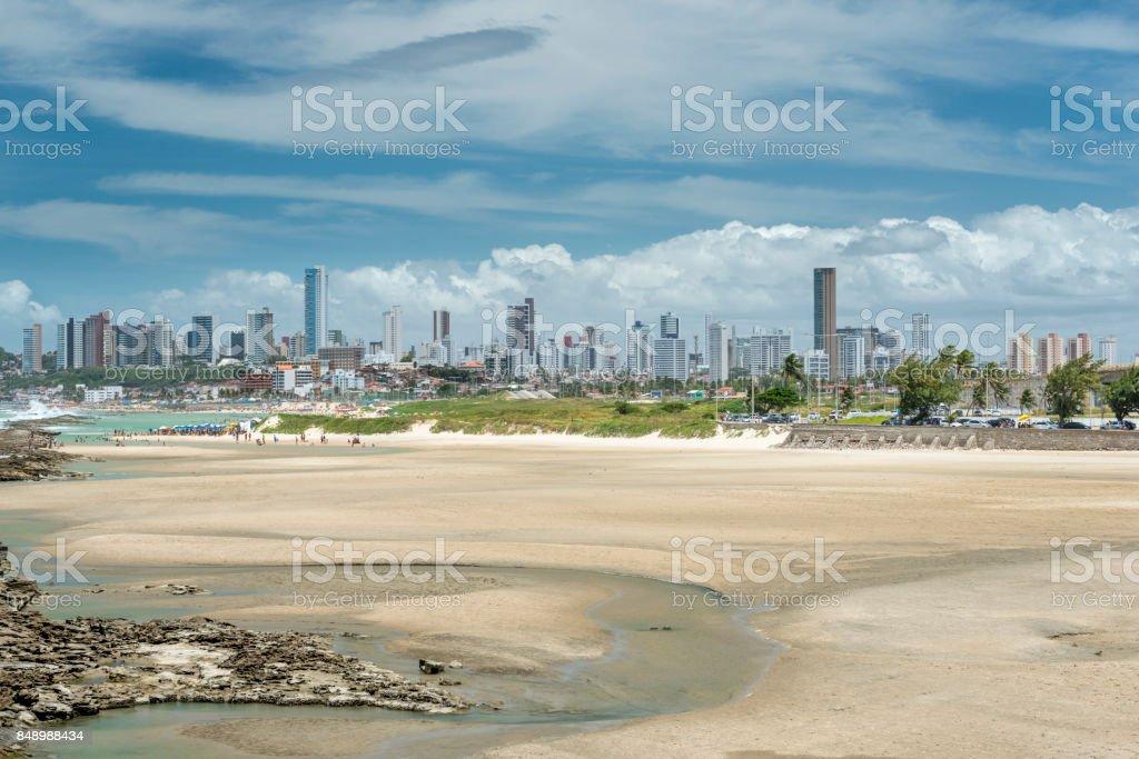 Praia do Forte Natal city skyline stock photo