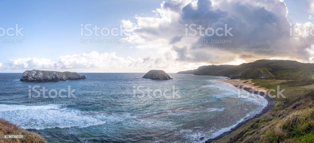 Praia do Leao Beach - Fernando de Noronha, Pernambuco, Brazil stock photo