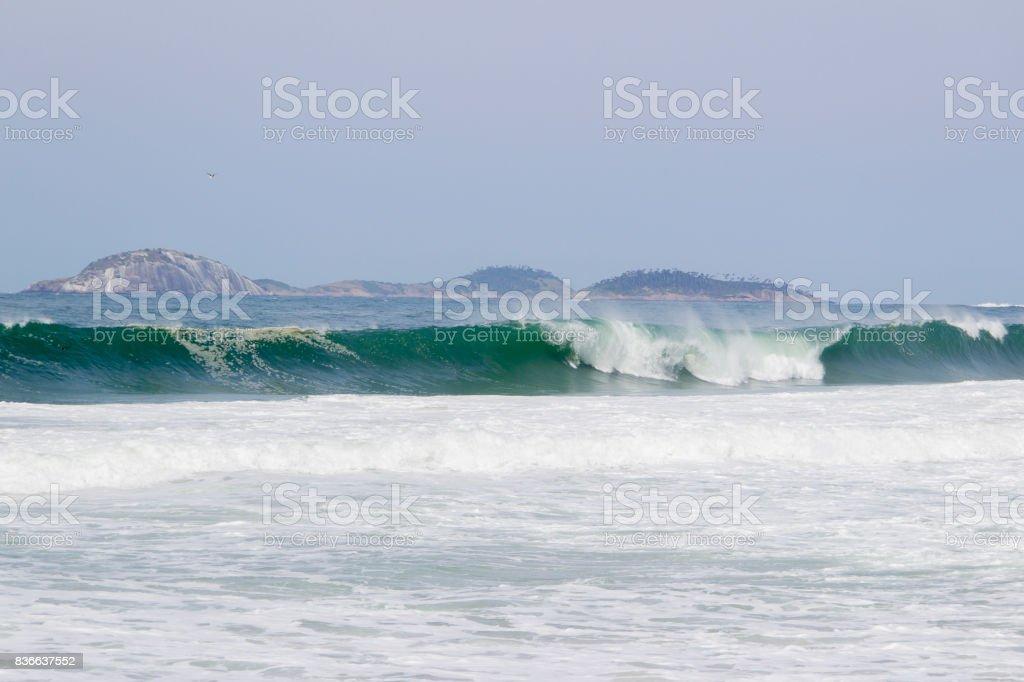 Praia do Leme stock photo