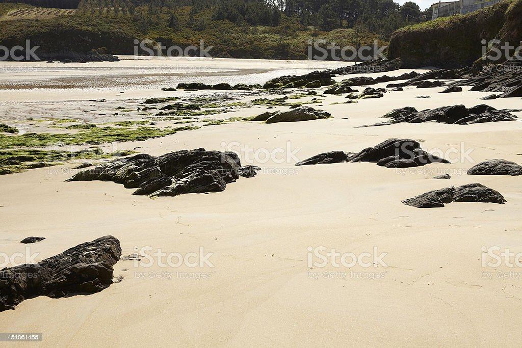 Praia do Rio, Meirás. Galicia stock photo