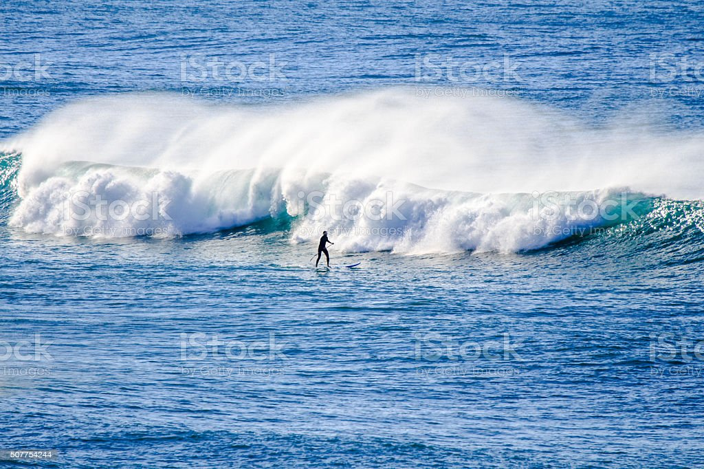 Praia Grande Sintra stock photo