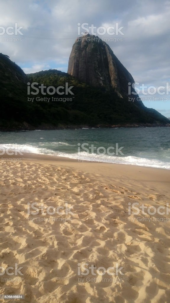 Praia Vermelha stock photo
