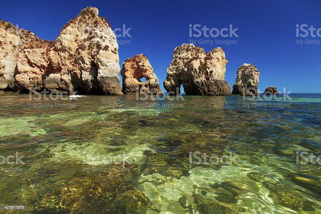 Prainha Beach-Alvor Portugal - fotografia de stock