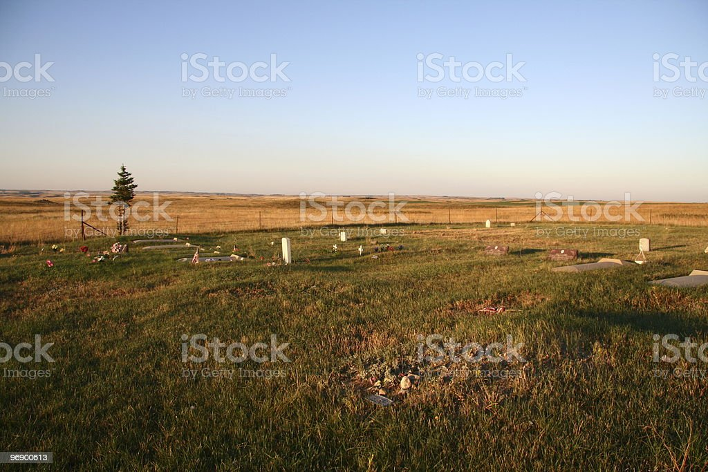 Praire Cemetary royalty-free stock photo