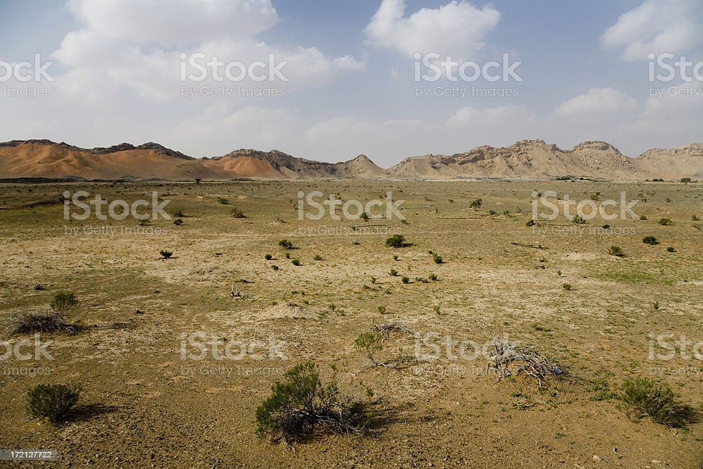 Prairie & Desert Mountains United Arab Emirates royalty-free stock photo