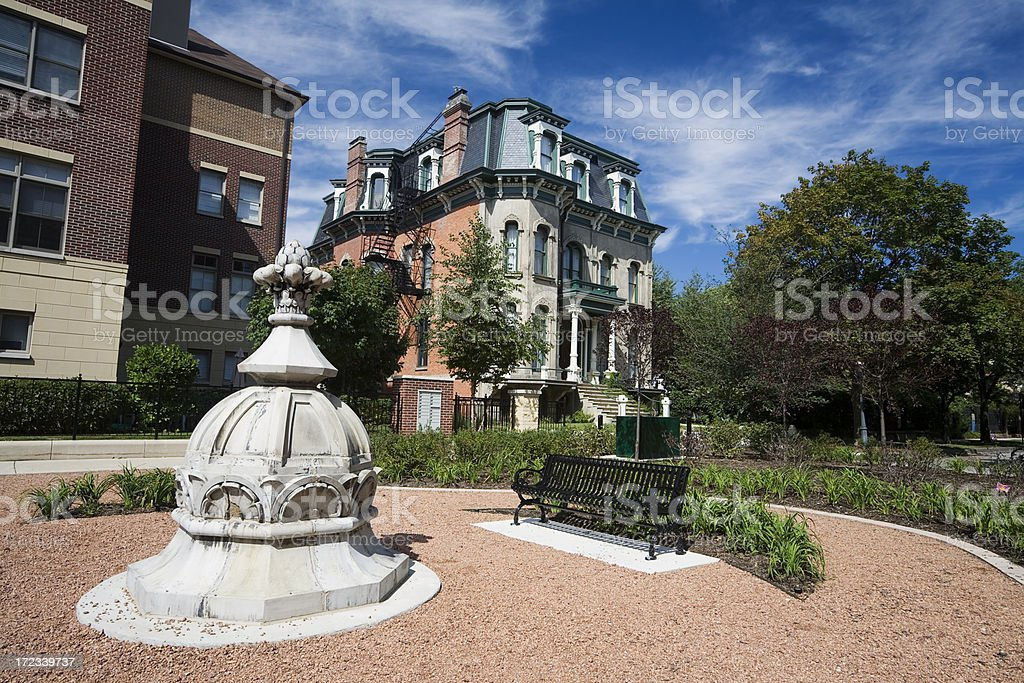 Prairie Avenue District Chicago stock photo