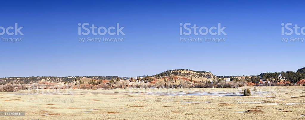 Prairie Dog Town Panoramic - Wyoming, USA stock photo