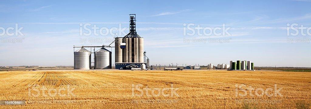Prairie Elevator And Grain Bin stock photo