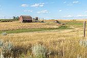 istock Prairie Farm Buildings near Orion, Canada 1165618850