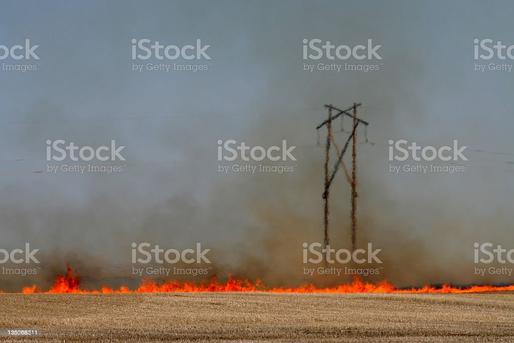 Prairie Fire royalty-free stock photo